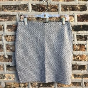Loft Jacquard Pull On Skirt, Med (petite)